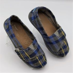 Toms Blue & Yellow Plaid Size Toddler 10
